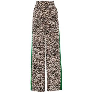 Kylie Leopard Trousers w Strp Brown/Green