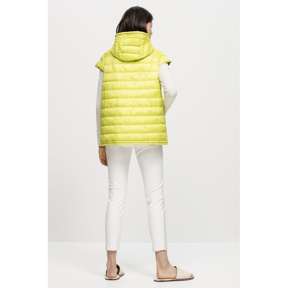 Luisa Cerano Thinsulate Gilet with Hood Acid Green
