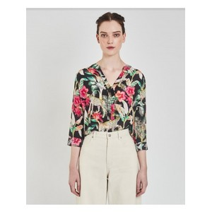 Paola 3/4 Sleeve Floral Top Leopard