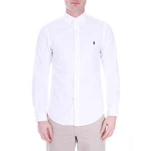 Polo Ralph Lauren L/S Slim Fit Sports Shirt in White