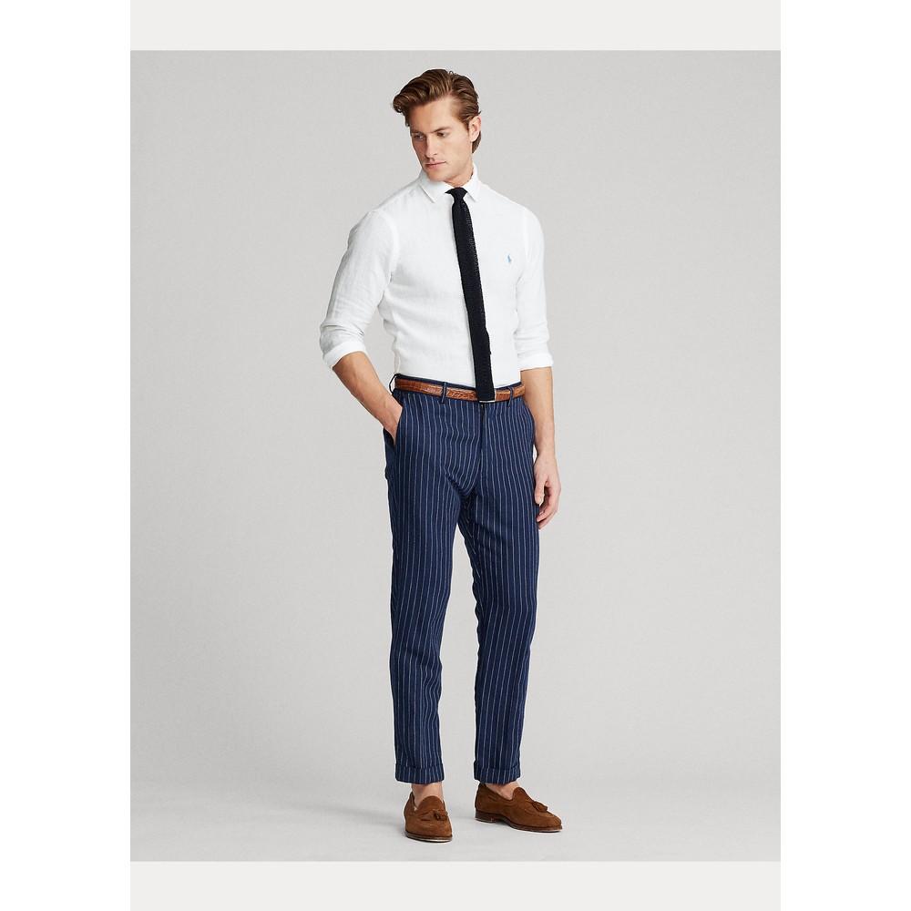 Polo Ralph Lauren L/S Linen Chambray Shirt White
