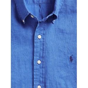 Polo Ralph Lauren L/S Slim Fit Linen Sport Shirt Summer Royal