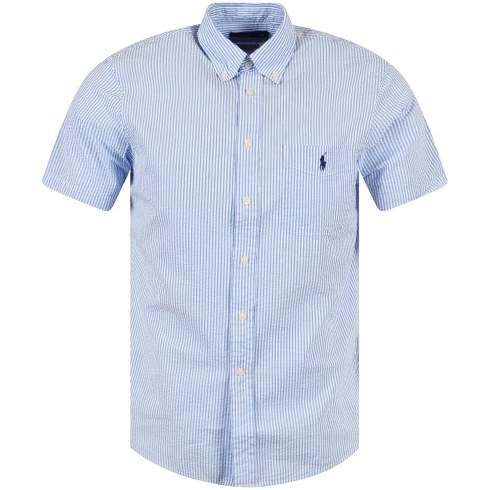 Polo Ralph Lauren Short Sleeve Stripe Shirt Blue/White