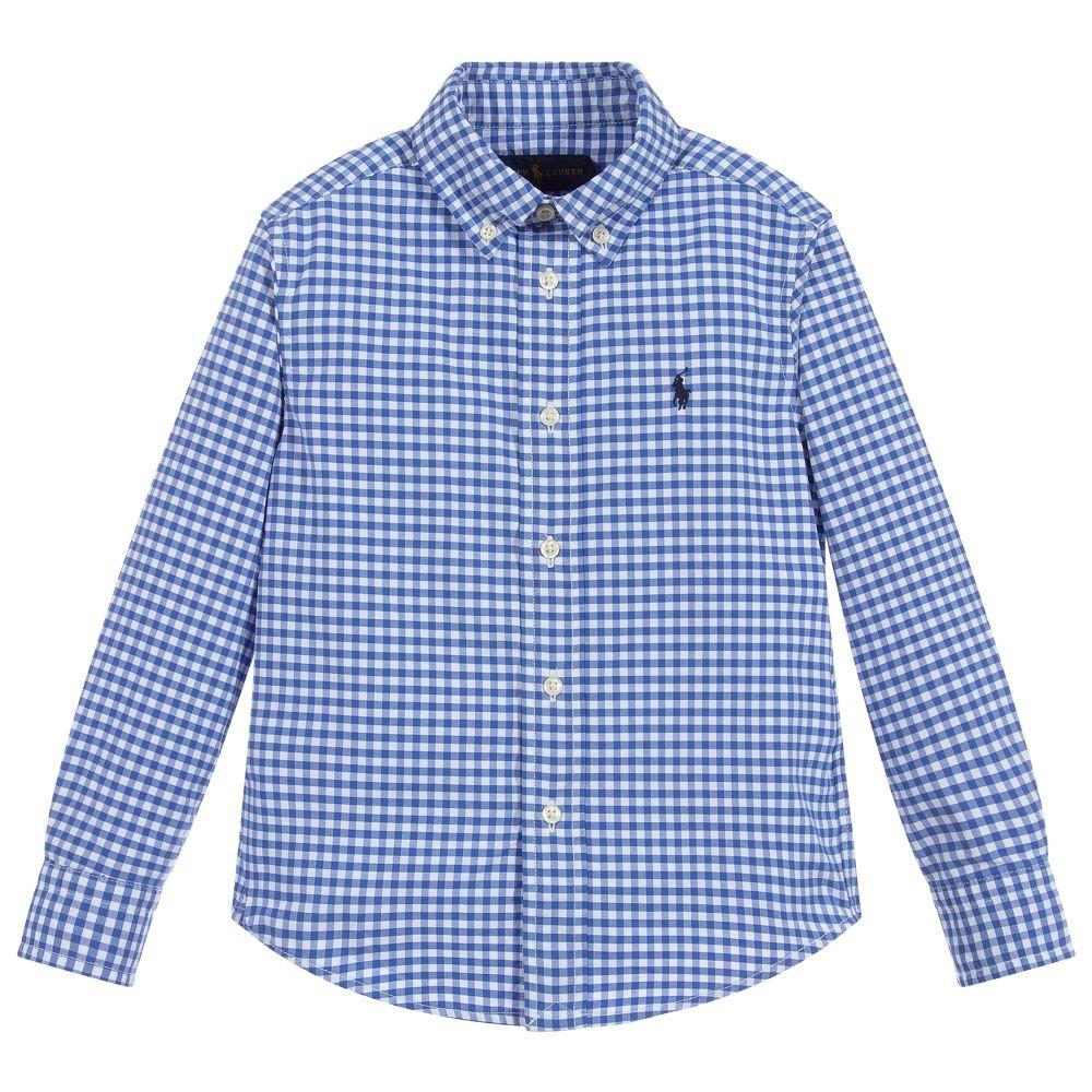 Polo Ralph Lauren L/S Check Custom Fit Shirt Blue/White