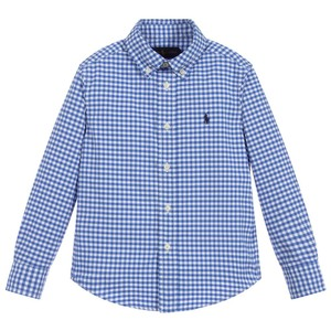 L/S Check Custom Fit Shirt Blue/White