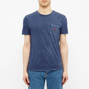 S/S Logo Pocket Tee Cruise Navy