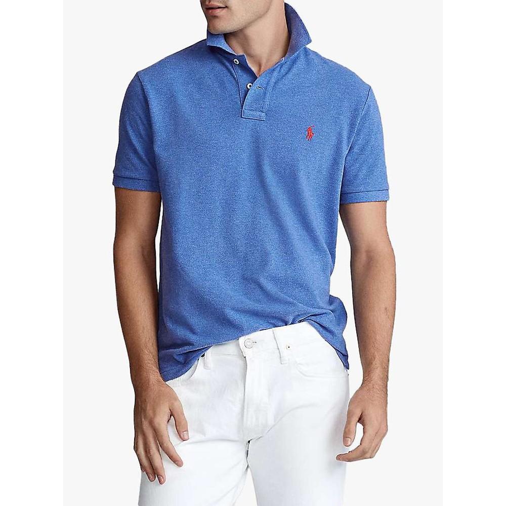 Polo Ralph Lauren S/S Logo Polo-Slim Fit Dockside Blue Heather