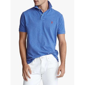 S/S Logo Polo-Slim Fit Dockside Blue Heather