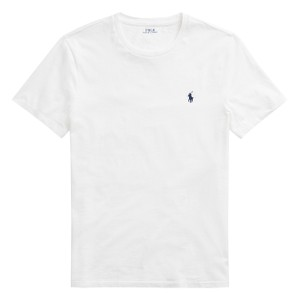 Polo Ralph Lauren Custom Slim Fit Polo Tee White