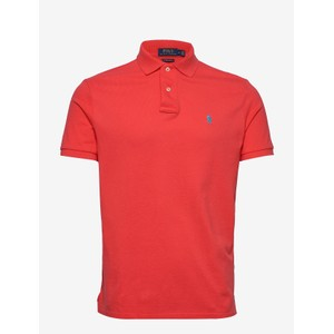 S/S Logo Polo-Slim Fit Racing Red