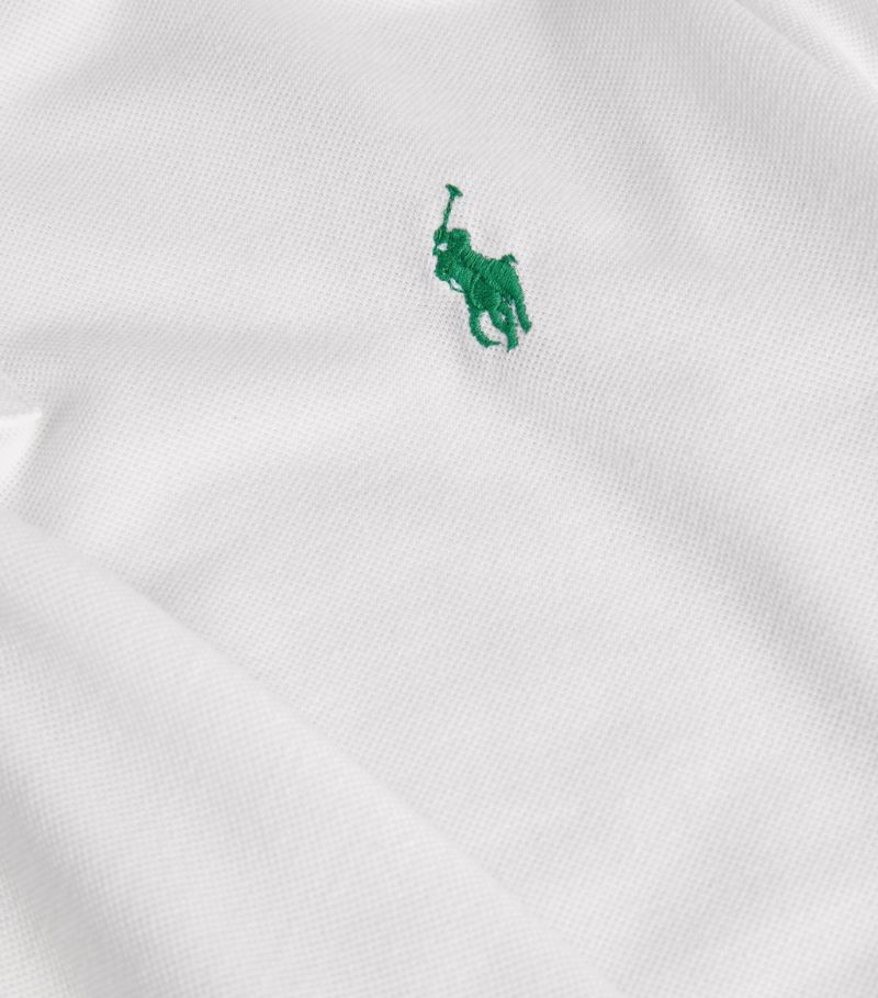 Polo Ralph Lauren S/S Earth Polo-Custom Slim Fit White