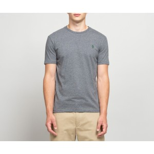 S/S Logo T Shirt Custom Slim Fit Grey Heather