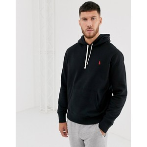L/S Polo Logo Hoody Polo Black