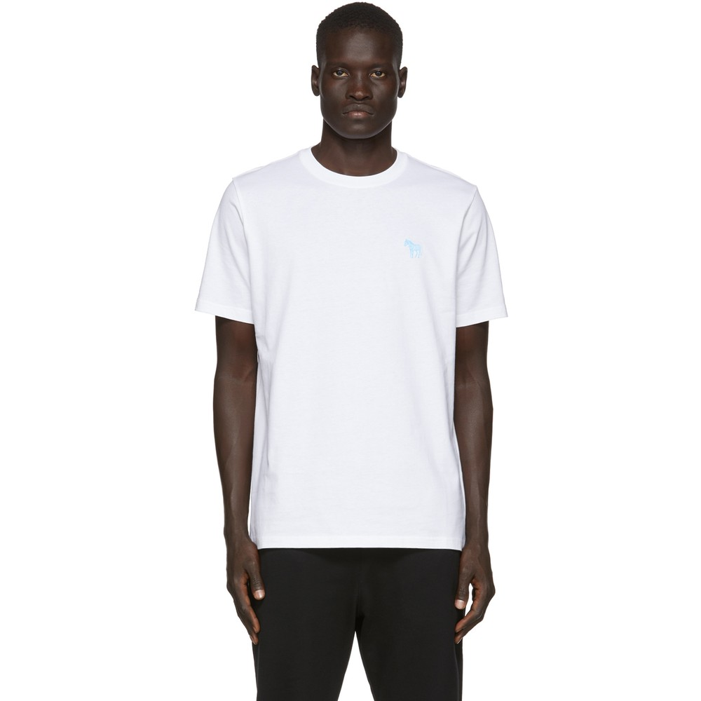 Paul Smith S/S Scribble Zebra T-Shirt White
