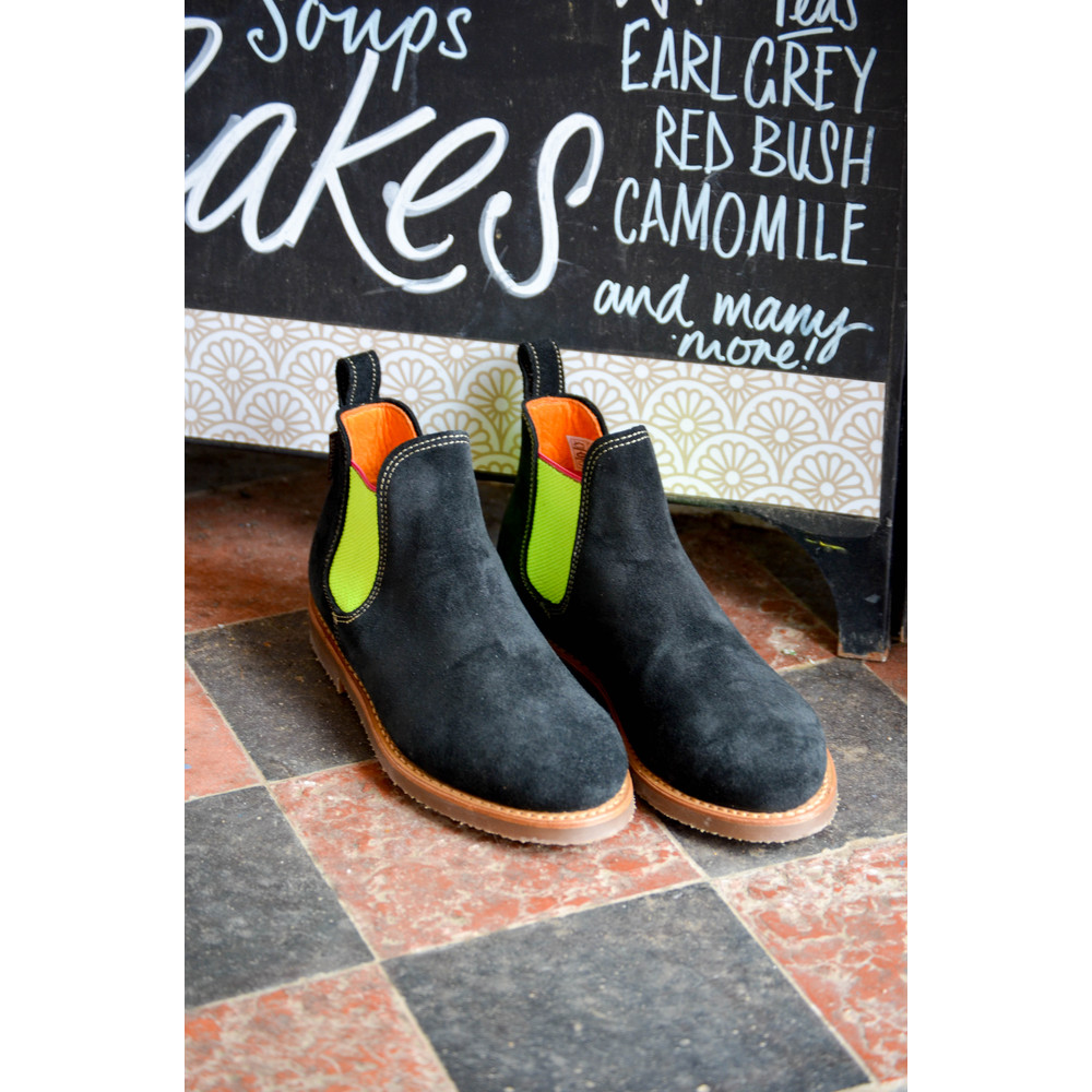 Penelope Chilvers Safari Neon Boots Black/Neon Yellow