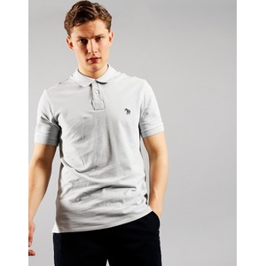 Zebra Logo Polo-Organic Cotton Pale Blue