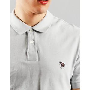 Paul Smith Zebra Logo Polo-Organic Cotton Pale Blue
