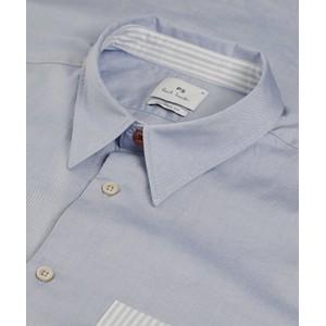 Paul Smith Stripe Pocket Tailored Shirt Pastel Blue