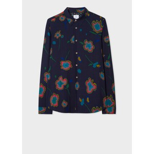 Heat Map Floral Tailored Shirt Dark Navy/Multi