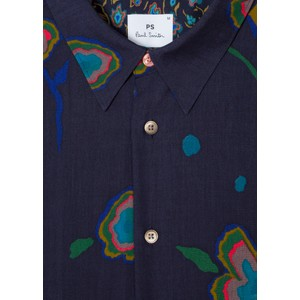 Paul Smith Jeans Heat Map Floral Tailored Shirt Dark Navy/Multi
