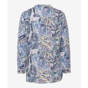 Brax Val Leaf Print Shirt White/Multi