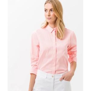 Victoria Fine Stripe Shirt Neon Orange/White