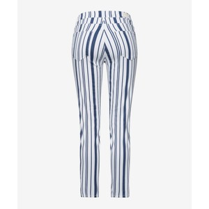 Brax Shakira Striped Skinny White/Navy