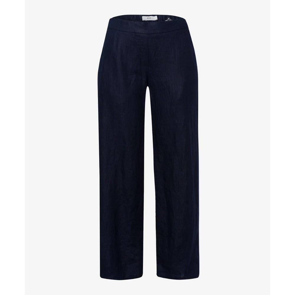 Brax Maine Relaxed Linen Trouser Navy