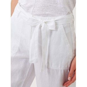 Brax Maine S Relax Fit Linen Trs White