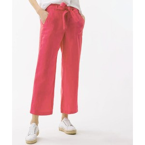 Brax Maine S Relax Fit Linen Trs in Fuschia