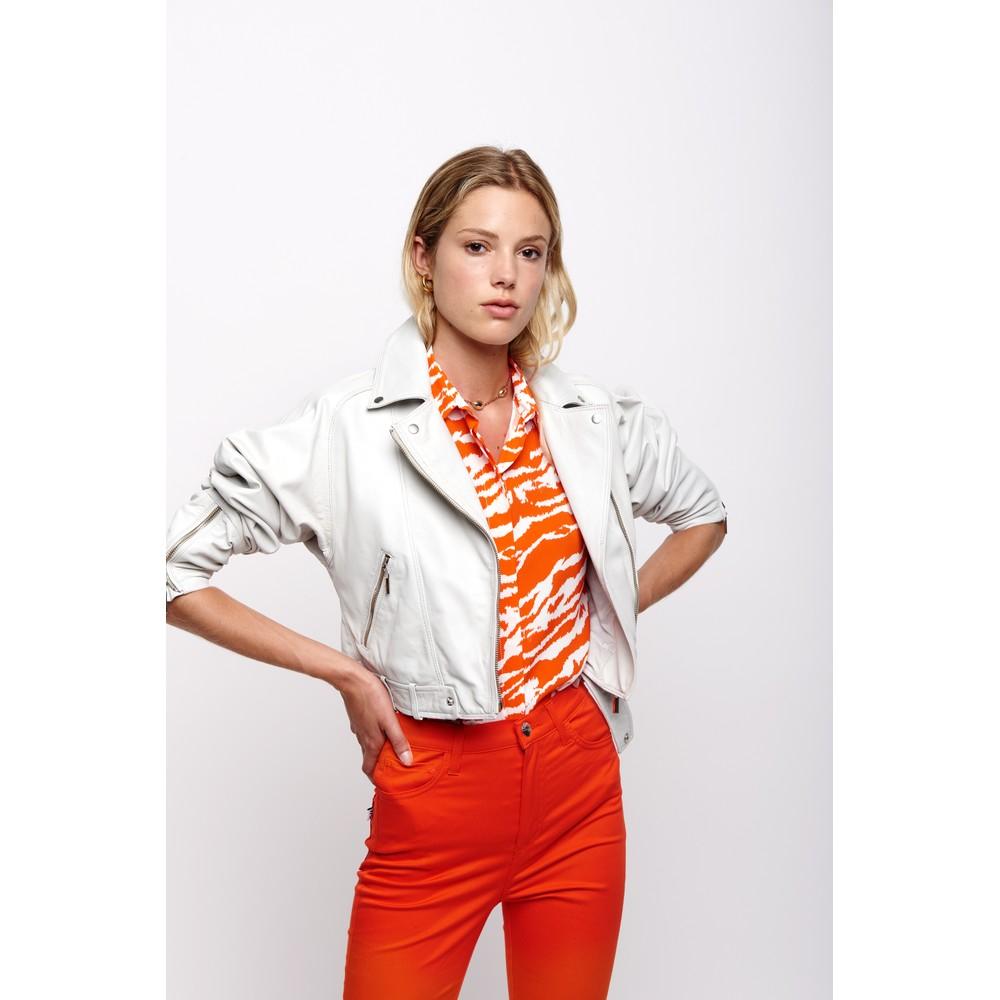 Sfizio Zebra Print Shirt Orange/White
