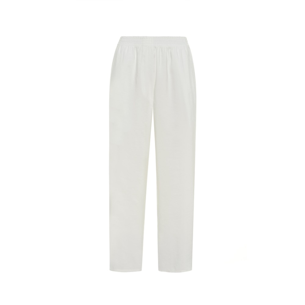 Sfizio Wide Leg Trousers White
