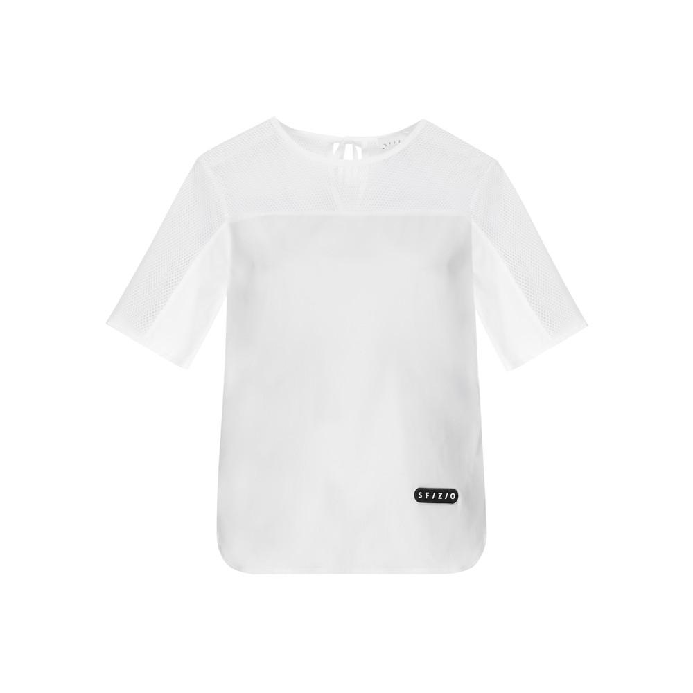 Sfizio S/S  Mesh/Cotton Top White