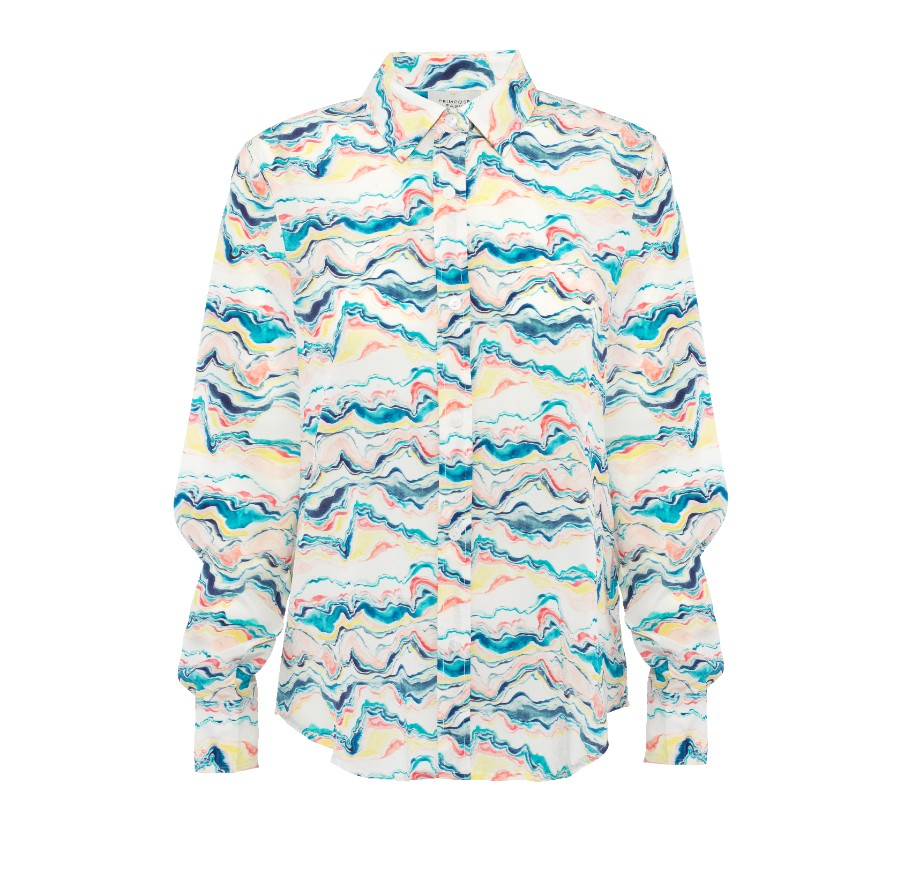 Primrose Park Gail Wave Shirt Blue/Multi