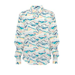 Gail Wave Shirt Blue/Multi