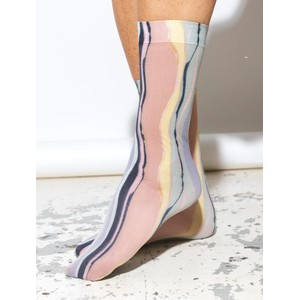 Tie Dye Corella Sock Adobe Rose