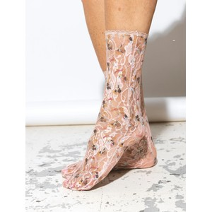 Lace Lunetta Sock Dusty Rose