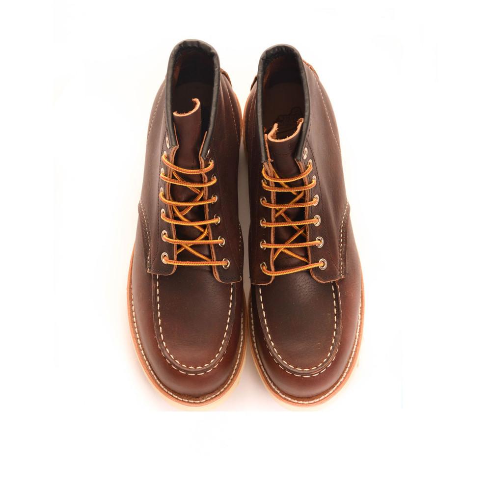 Red Wing Shoe Company  Classic Moc Toe Boot Dark Brown