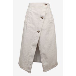 Savannah Button Skirt Beige