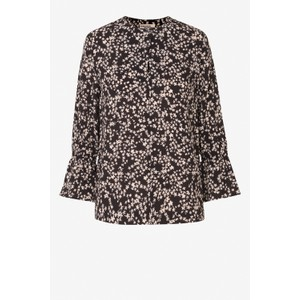 Madessa Ditsy Floral Blouse Black