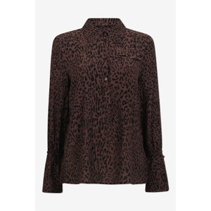 Marei Leopard Blouse French Brown
