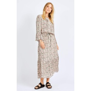Deka L/S Printed Long Dress Bubblegum