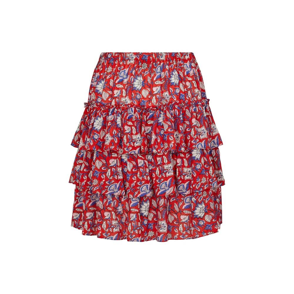 Moliin Victoria Floral Mini Skirt Sun Tomato