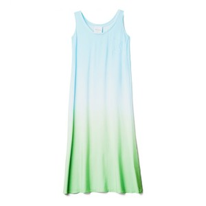 Tanina S/L Ombre Maxi Dress Aqua/Mint