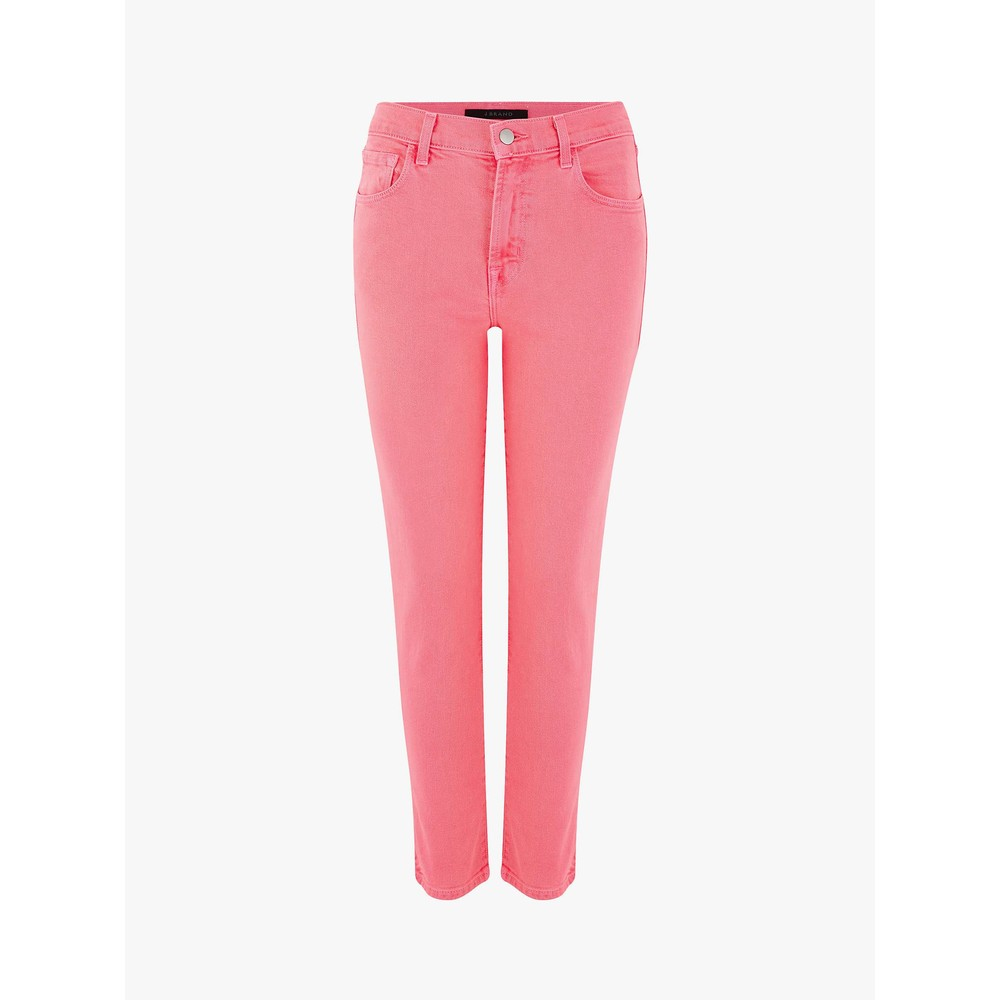J Brand Ruby Hi Rose Crop Cigarette Coral PInk