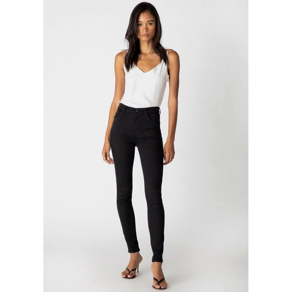 J Brand Maria High Rise Skinny Seriously Black