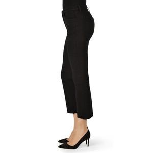 J Brand Selena Cropped Boot Raw Hem Jean Black Bastille