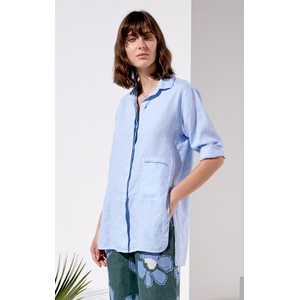 Hidden Btn 1Pkt Vent Hem Shirt Light Blue