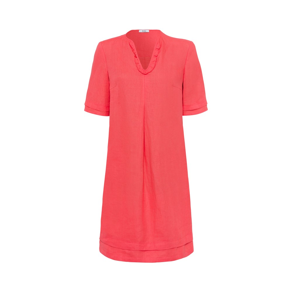 Riani S/S Ruffle V Tunic Dress Sundowner