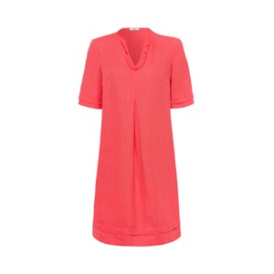 S/S Ruffle V Tunic Dress Sundowner